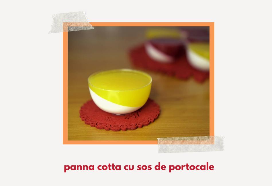 Panna Cotta cu portocale