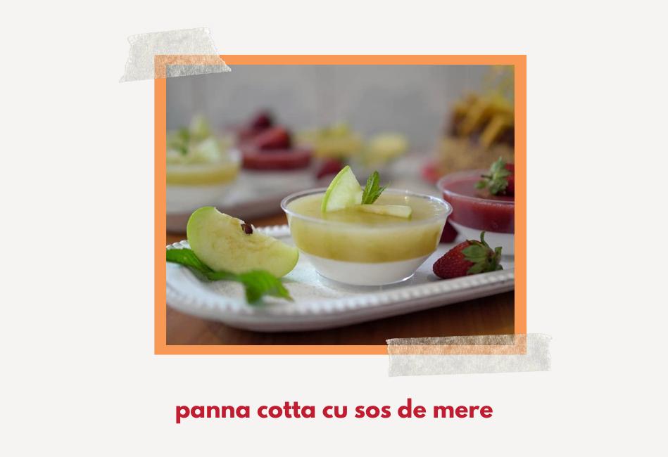 Panna Cotta cu mere